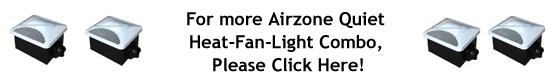 Air Zone Exhaust Ventilation Very Quiet Fans - Heat Fan Light Combo