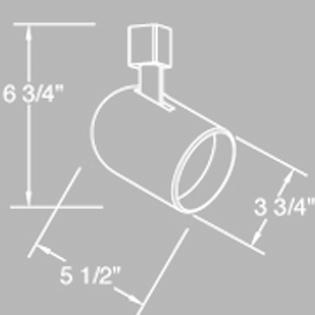 Elco Lighting ET638B Line Voltage PAR20 Round Back Cylinder