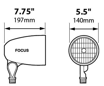 focus landscape lighting dl-38-nl-cam par38 bullet floodlight 120v cast  aluminum directional lighting camel tone color