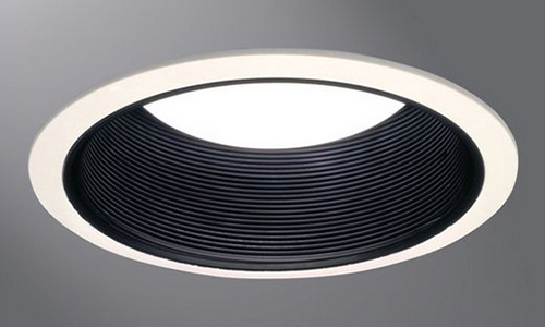 "Black Baffle Cooper Lighting 6/"" 30PAT Super Trim AIRTITE Baffle White Trim"