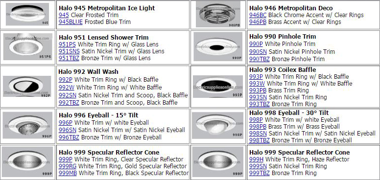 Halo Lighting 999SN 4 Incandescent Line Voltage Specular