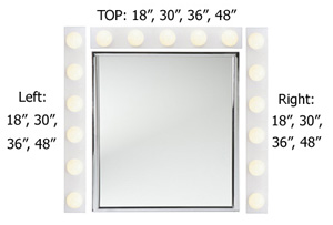 Hollywood mirror vanity lights combo pack with led bulbs dimensions 4 38 by 3 316 inches l x w 3 light hollywood light aloadofball Images