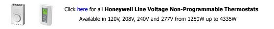 Honeywell Line Voltage Non Programmable