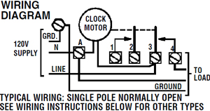 intermatic timer t105 indoor 24 hour dial 120v 40 amp 1 pole installation intermatic t105 wiring diagram