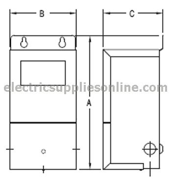 Jefferson Electric 416-1131-000 Outdoor/Indoor Buck Boost Magnetic ...