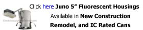 Juno Recessed 5 inch Fluorescent Housing by type