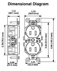 leviton 5262 e 15 amp, 125 volt, nema 5 15r, 2p, 3w, wide GMC Fuse Box Diagrams