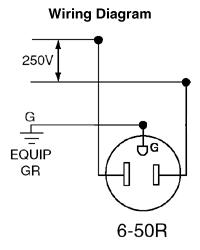 leviton 5374 50 amp 250 volt nema 6 50r 2p 3w flush mtg rh electricsuppliesonline com