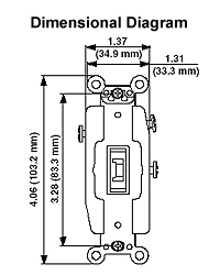 leviton l amp volt toggle locking double throw dimensional drawing acircmiddot wiring diagram