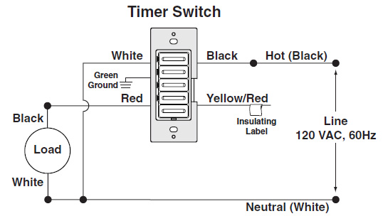 Leviton LTB Wiring 1 electricsuppliesonline com leviton ltb60 1lz timer decora preset leviton timer switch wiring diagram at n-0.co