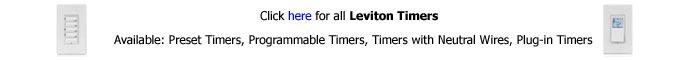 Leviton Timers