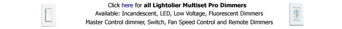 Lightolier Multiset Pro Dimmers