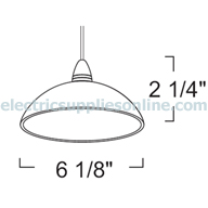 LT152 Dome Pendant Light Dimensions