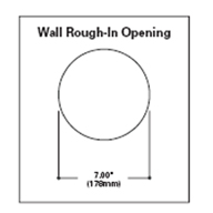 Rio Square 1237 Wall Opening Specifications
