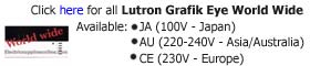 Lutron Grafik Eye 3000 Series Worldwide