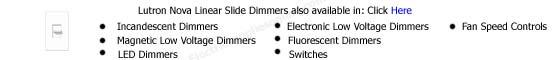 Lutron Nova Dimmers