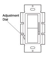 Lutron CL adjustment Dial