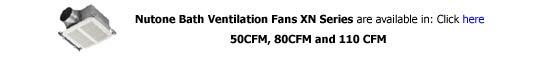 Nutone Ventilation Fan XN Series
