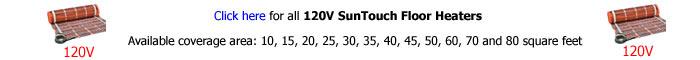 SunTouch TapeMat 120V Floor Heater